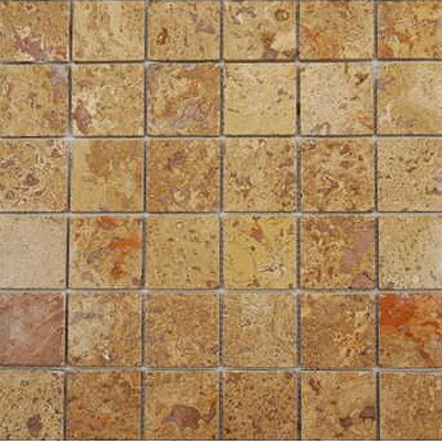Noce 2 x 2 Travertine Mosaic Tile in Brown