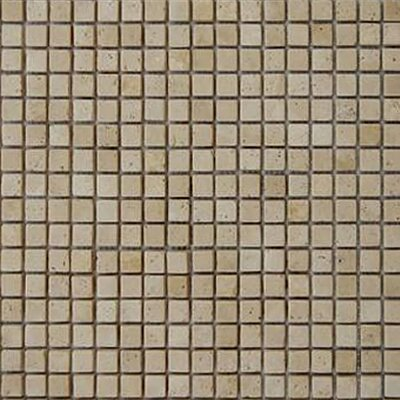0.625 x 0.625 Travertine Mosaic Tile in Beige