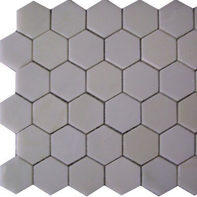 Epoch Architectural Surfaces Thassos Hexagon 2 x 2 Marble Mosaic Tile in White