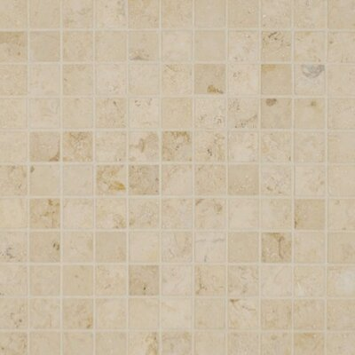 Jura 1 x 1 Limestone Mosaic Tile in Honed Beige