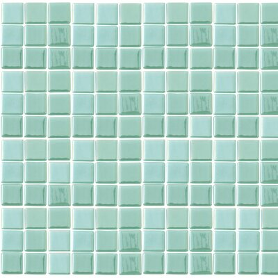 Futurez Hendrix 1 x 1 Glass Mosaic Tile in Green