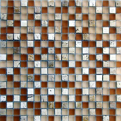 Desertz 0.63 x 0.63 Stone Composite and Glass Mosaic Tile in Beige