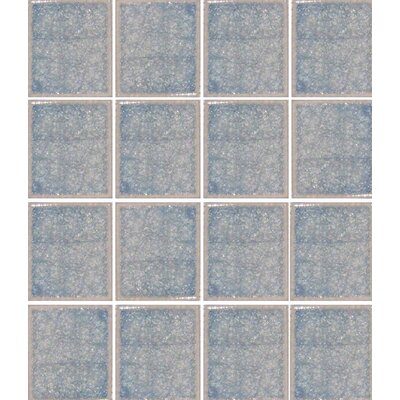 Oceanz 3 x 3 Glass Mosaic Tile in Blue