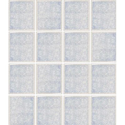 Oceanz 3 x 3 Glass Mosaic Tile in White