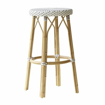 Affaire 30.7 Bar Stool Color: White with Cappuccino Dots