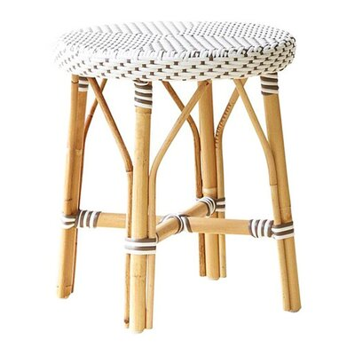 Affaire 18.1 Bar Stool Color: White with Cappuccino Dots