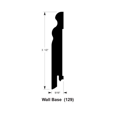 3.5 x 0.56 x 94 Wall Base