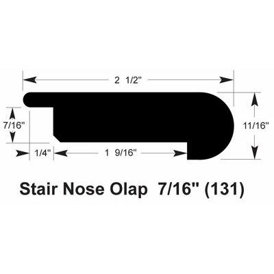 0.69 x 2.5 x 78 Stair Nose Olap