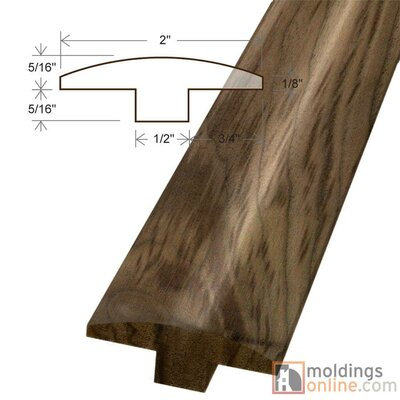 0.63 x 2 x 78 Kingston Walnut T-Molding