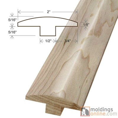 0.63 x 2 x 78 Maple T-Mold
