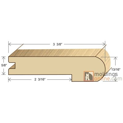 0.81 x 3.38 x 78 Stair Nose