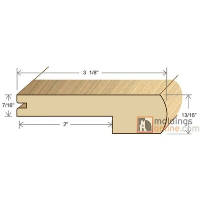 1.56 x 0.5 x 96 White Oak Adjustable LVT M