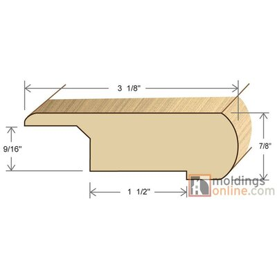 0.87 x 3.13 x 72 Stair Nose Olap