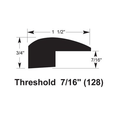 0.75 x 1.5 x 78 Threshold