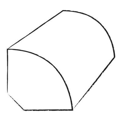 0.75 x 1.2 x 96 Red Oak Quarter Round