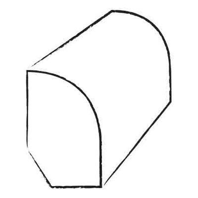 0.47 x 1.2 x 96 Birch Base Shoe