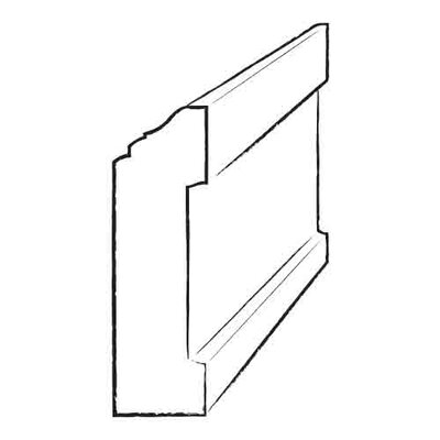 3.5 x 4.8 x 96 White Oak Wall Base