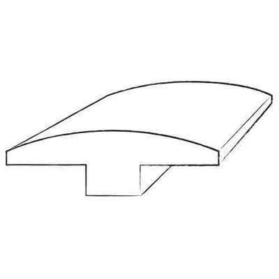 0.63 x 2 x 78 Santos Mahogany T-Molding