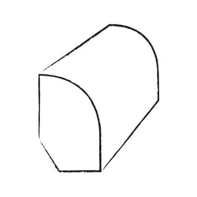 0.47 x 0.75 x 96 Hickory Base/Shoe Mold