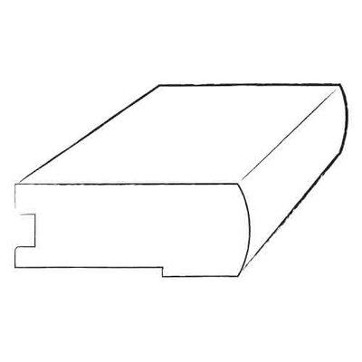 Furniture-0.34 x 2 x 78 Walnut Overlap Stair Nose