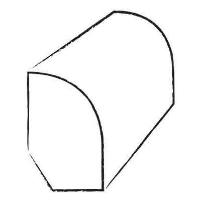 0.47 x 1.2 x 96 White Ash Base Shoe