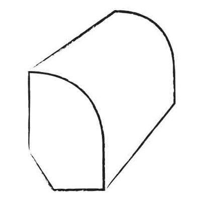 0.47 x 1.2 x 96 Maple Base Shoe