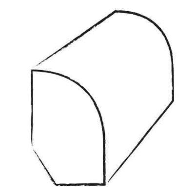 0.47 x 1.2 x 96 White Oak Base Shoe