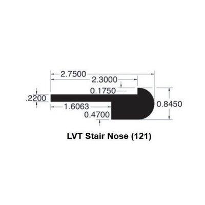 0.85 x 2.75 x 78 Red Oak LVT Stair Nose