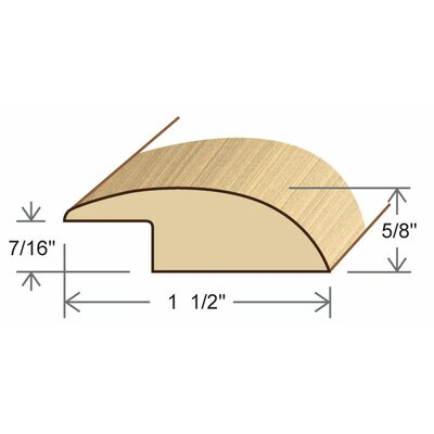 0.61 x 1.5 x 78 White Oak Reducer Overlap