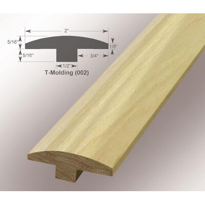 0.63 x 2 x 78 Pecan T-Mold