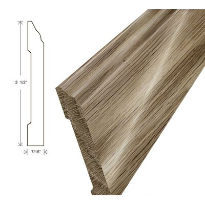 0.44 x 3.5 x 96 White Oak Wall Base