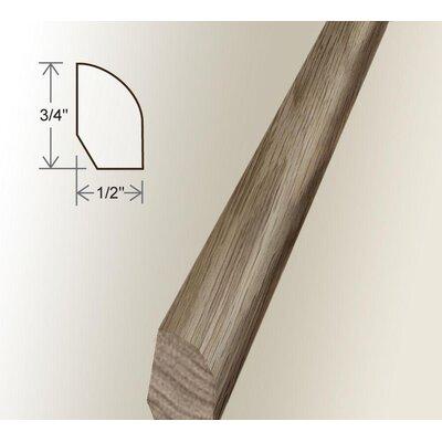 0.47 x 0.75 x 96 White Oak Base Shoe