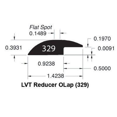 0.39 x 1.42 x 78 White Oak Reducer Overlap LVT