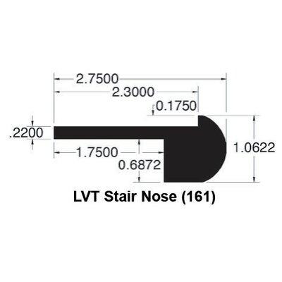 1.06 x 2.75 x 96 White Oak Stair Nose LVT