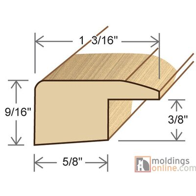 0.59 x 1.19 x 78 White Oak Square Nose