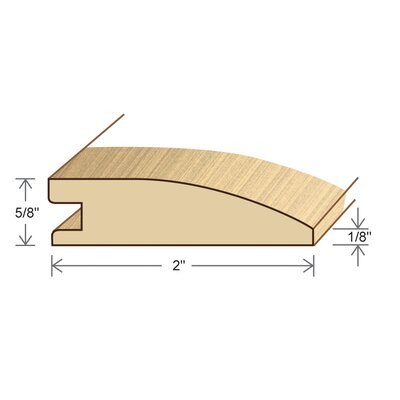0.6 x 2 x 78 Solid White Oak Reducer