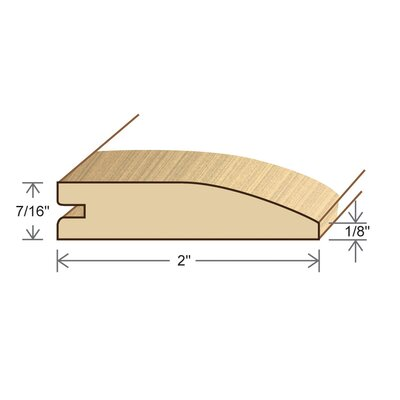 Furniture-0.44 x 2 x 78 Solid Maple Reducer