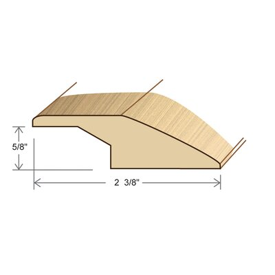 0.67 x 2.38 x 78 Solid White Oak Overlap Reducer