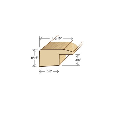 0.38 x 1.19 x 78 Solid Walnut Square Nose