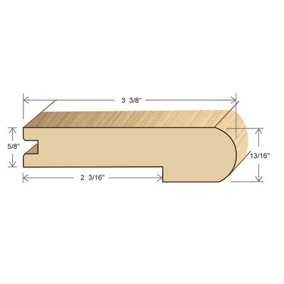 0.81 x 3.38 x 78 Red Oak Stair Nose