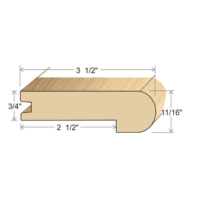 0.69 x 3.5 x 96 Red Oak Stair Nose