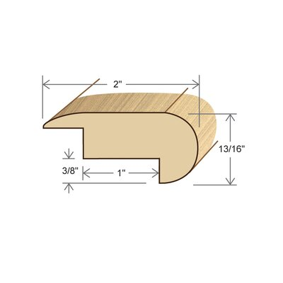 Brazilian Cherry Brazilian Cherry Laminate Stair Nose
