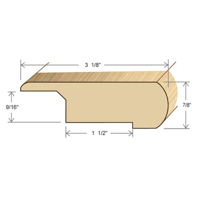 0.88 x 3.13 x 78 Red Oak Stair Nose