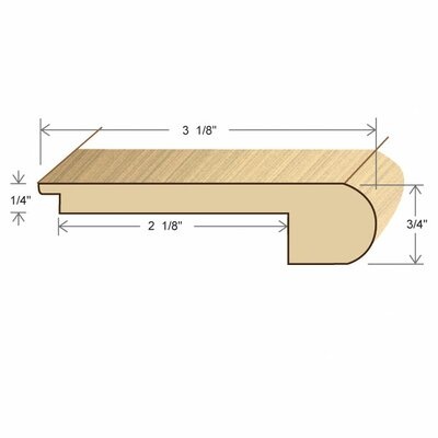 0.27 x 3.13 x 78 White Oak Stair Nose