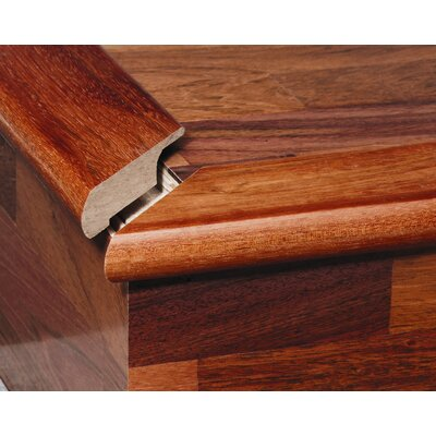 Furniture-0.34 x 2 x 78 Solid Brazilian Cherry Overlap Stair Nose