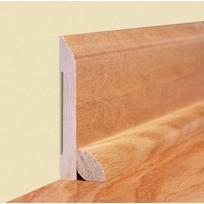 Furniture-0.45 x 2.89 x 96 White Ash Wall Base