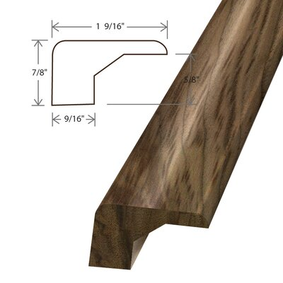 0.67 x 1.56 x 78 Solid Walnut Square Nose