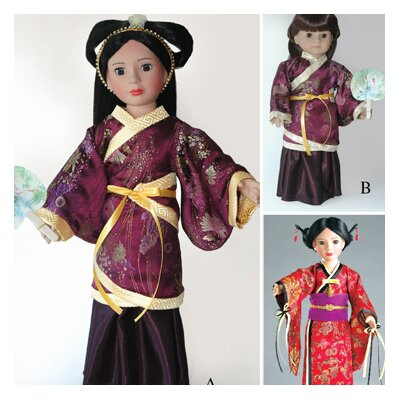 """Carpatina Doll Clothes Pattern for Hanfu Chinese Dress and Japanese Kimono fits 18"""" American Girl� at Sears.com"""