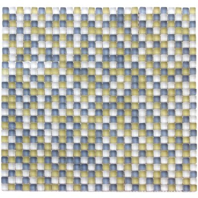 Atlantis 0.25 x 0.25 Glass Mosaic Tile in Capri Yellow/Blue