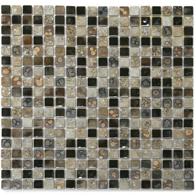 Terrene 0.6 x 0.6 Solstice Porcelain Mosaic Tile in Multi